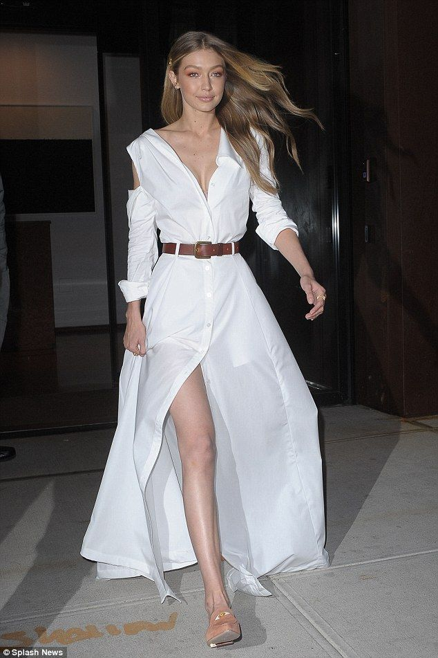 Heaven sent! Gigi Hadid transformed the streets of New York City into her personal runway as she left her apartment on Wednesday