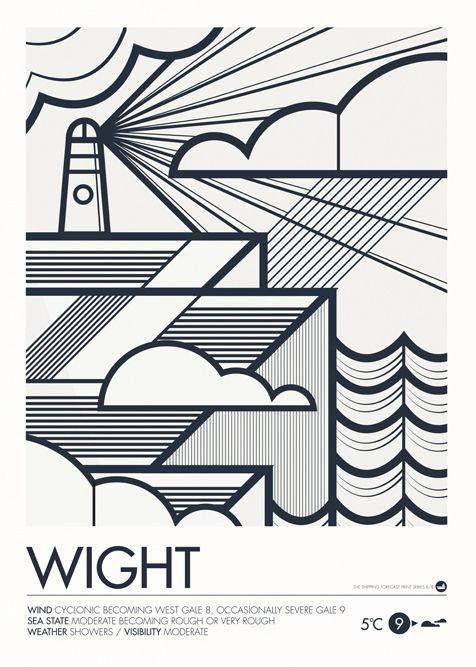 Image of Shipping Forecast Prints - Wight