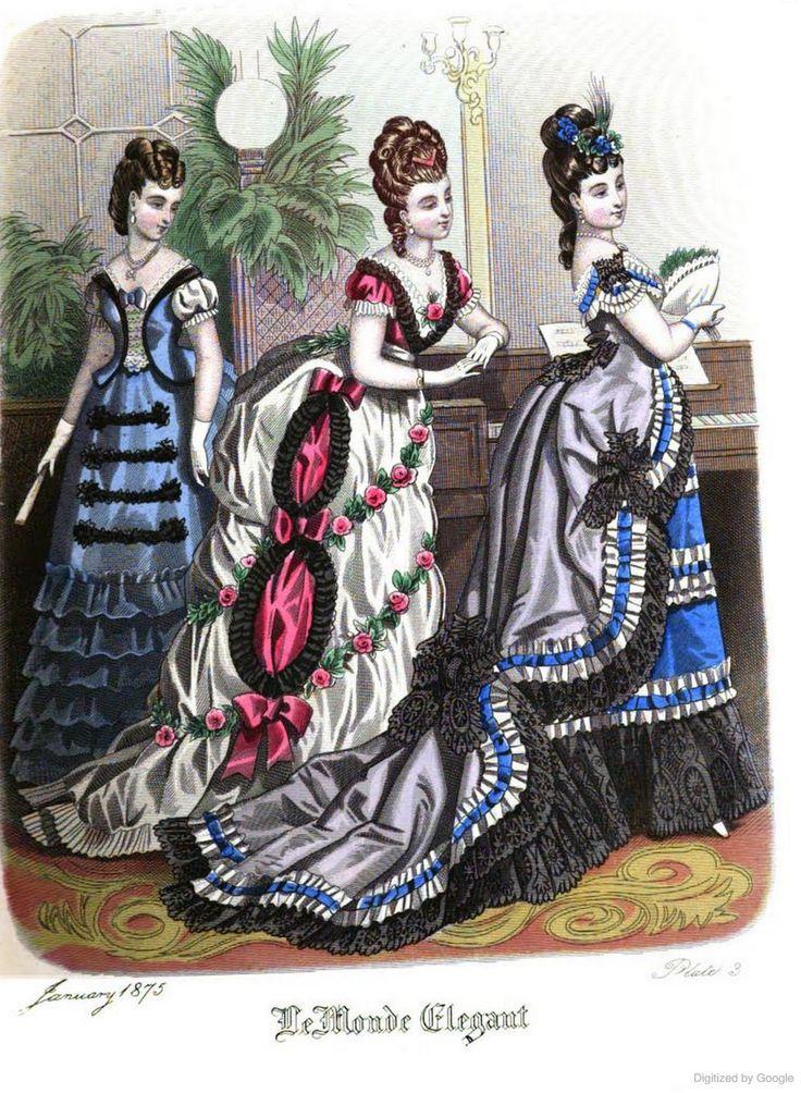 Le Monde Elégant 1875 January