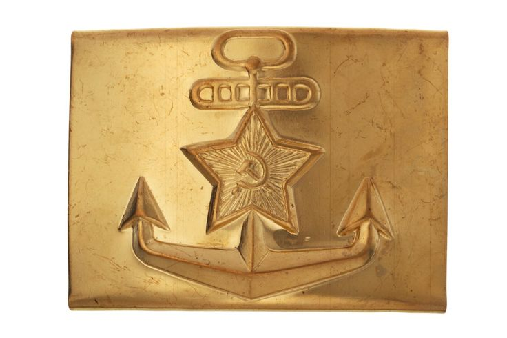 SOVIET NAVY SOLDIER'S BELT BUCKLE (ANCHOR WITH A STAR)  #anchor #anchors #navy #sailor #marines #usmc #mariners #belt #buckle #dress #military #fashion