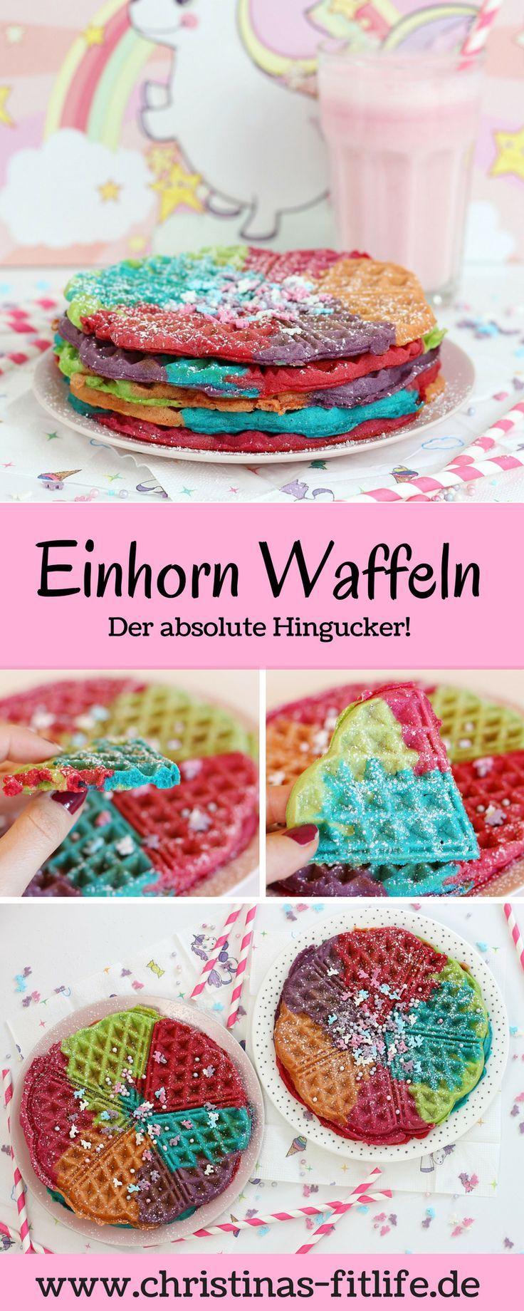 ᐅ Einhorn Waffeln – der absolute Hingucker! I Rezepte by Christina – Christin Löhner