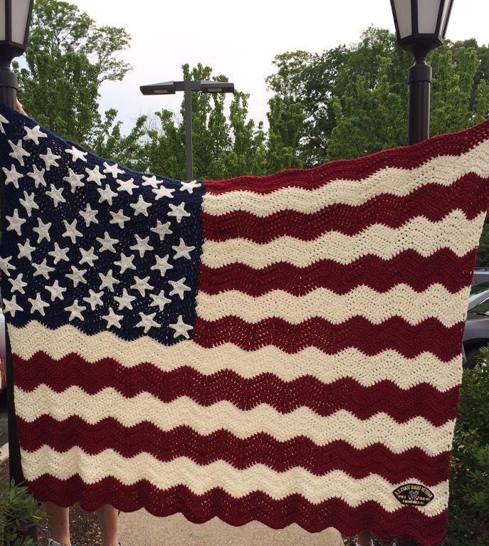 (4) Name: 'Crocheting : Wavy American Flag Afghan ...