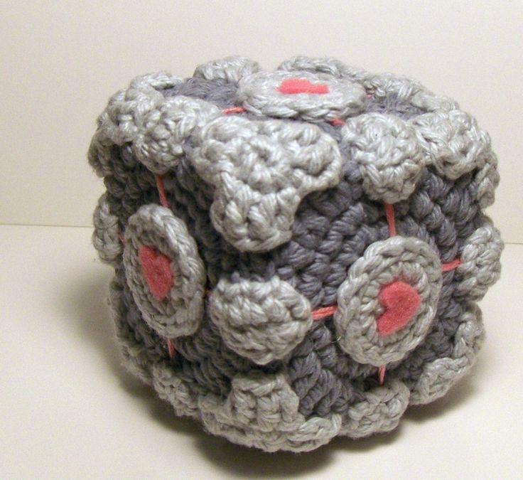 Amigurumi Cube Tutorial : Crocheted companion cube pattern crochet pinterest