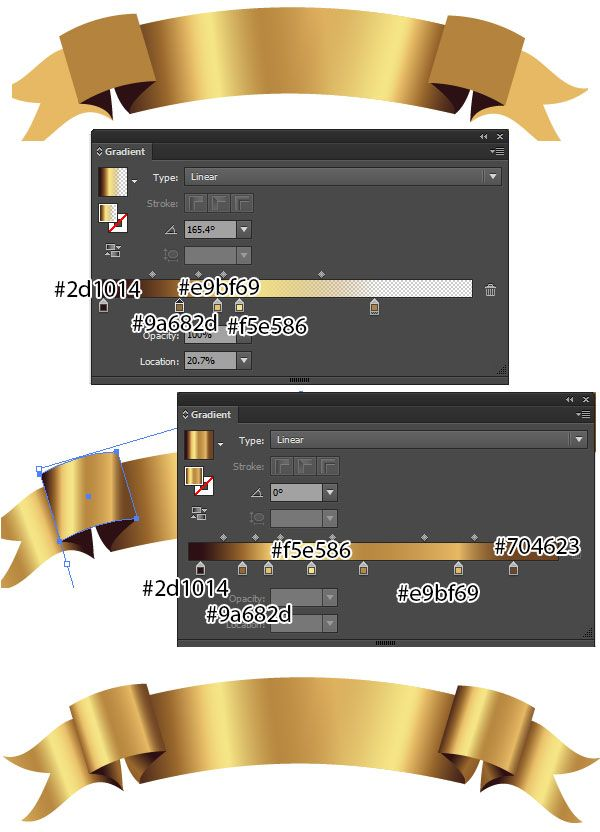 Add luxury to your designs with these golden ribbon banner vectors! Easily create ribbon banner vectors with beautiful gradients to get gilded perfection.