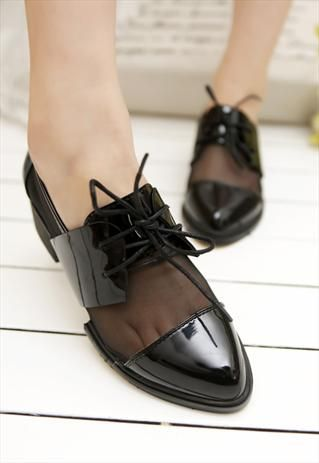 Black Mesh Loafers