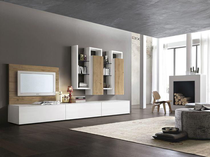 Inspiration Vardagsrum Modernt Italienskt Minimalistiskt Vägghängd Tv  Hyllor Skåp | Inredning | Pinterest | Fantasy House, Interiors And House