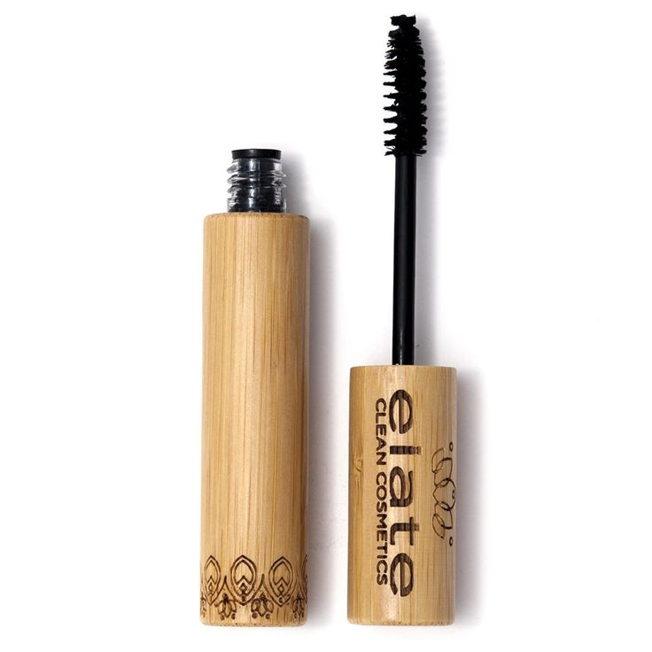 You'll fall in love with this cute, eco friendly bamboo packaging from Elate Cosmetics. And this mascara is THE BOMB! Click to learn more!