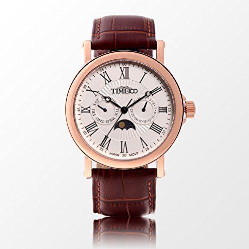 Time W80035G.03A – Reloj para hombres, correa de cuero color marrón