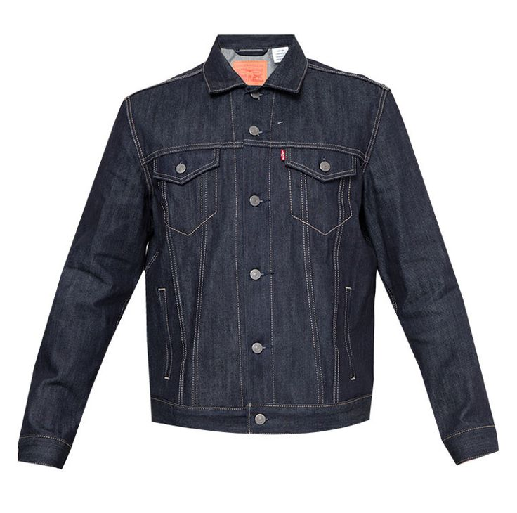 The Trucker Jacket Rigid 1 by Levi's. The classic styles you love,The silhouette is straight on the body with armholes and sleeves designed for maximum mobility and comfort, featuring welt pockets that offer style and functionality. http://zocko.it/LDUHW
