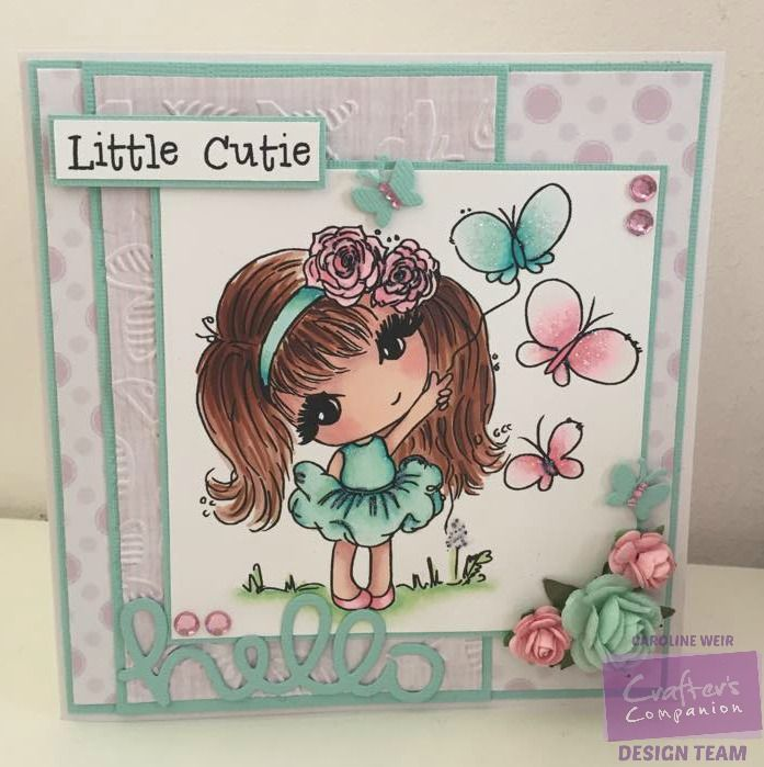 Crafter's Companion - Scruffy Little Kitten CD ROM & Stamps Coloured with Spectrum Noir pens - #crafterscompanion #spectrumnoir