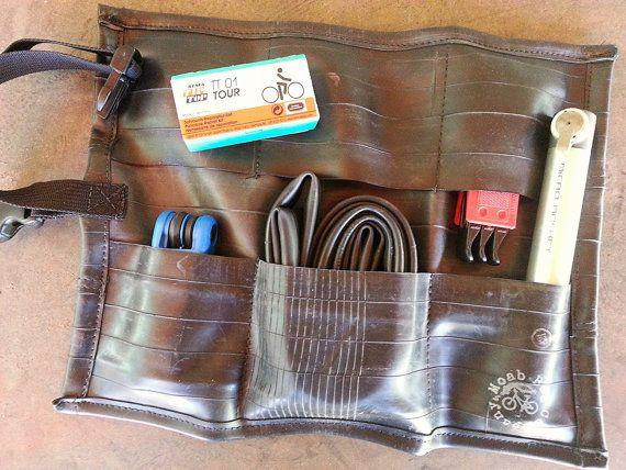 Bike Burrito - Bicycle Flat Kit - Bike Tool Bag - Recycled Bike Tubes - Bike Accessories - Upcycled Gear