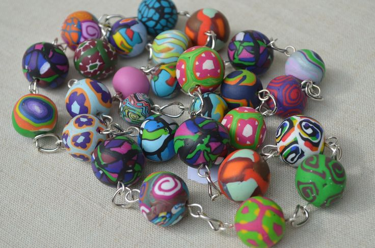All kind ofpolymer clay beads