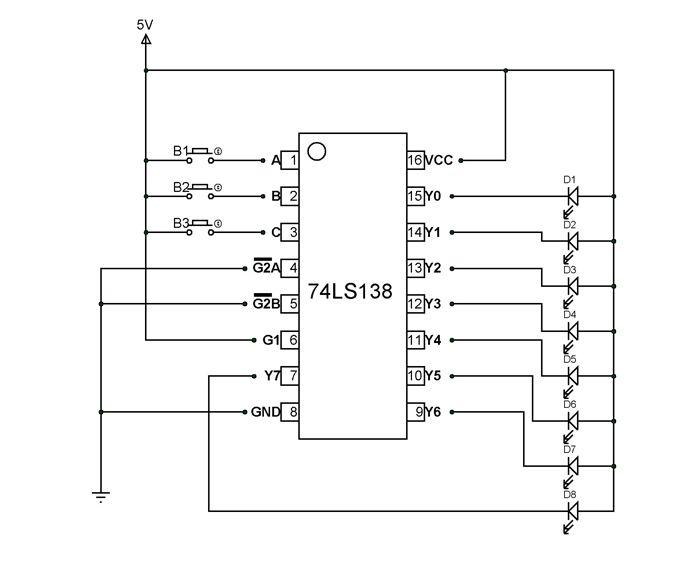 74ls139 decoder circuit