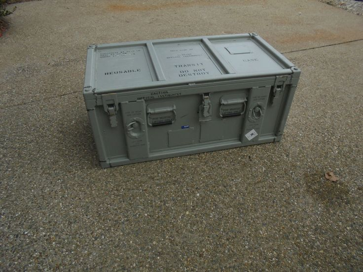 Surplus Military Aluminum Shipping Container Hardigg
