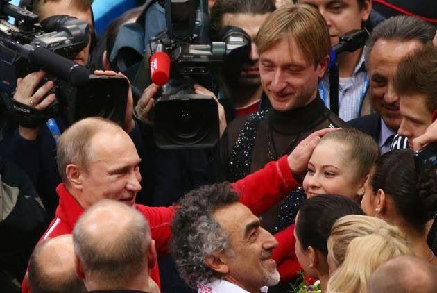 Οι Τρελοί Πανηγυρισμοί Του Πούτιν Για Το Χρυσό Της Ρωσίας Στο Καλλιτεχνικό Πατινάζ!!   http://championsland.blogspot.gr/2014/02/puttin-panugirismoi-xruso-rosia-kallitexniko-patinaz.html