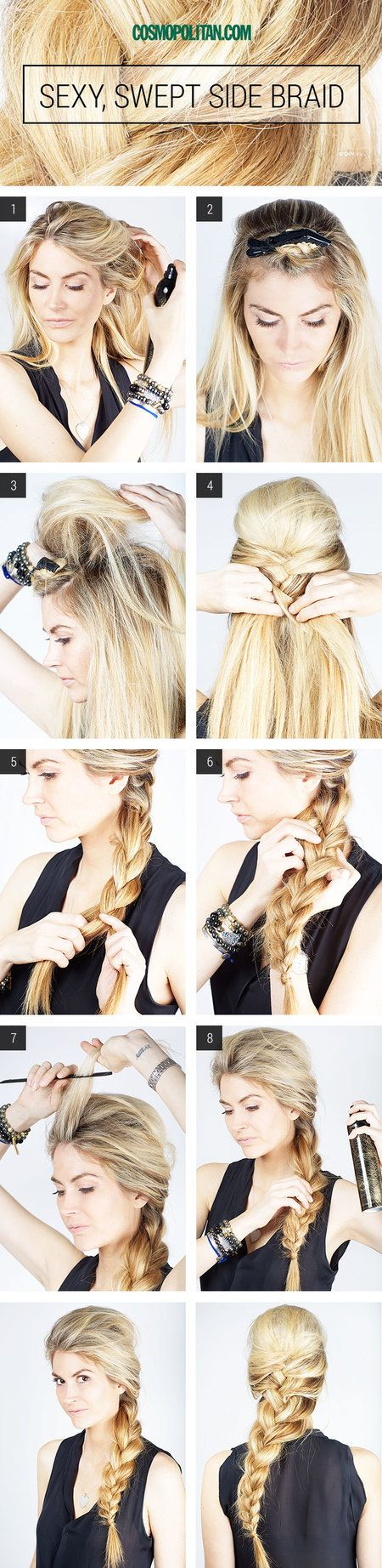 Side Braid tutorial - ------------------708 pins /rockersunshine/how-tos-hair/