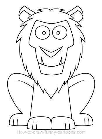 Cartoon Lion Safari Non Fiction Colouring Book Lion Coloring