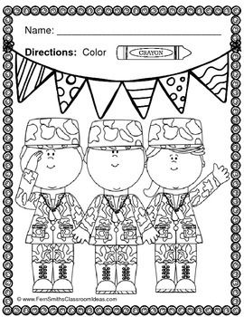 Free printable veterans day math worksheets president s for Coloring pages veterans day