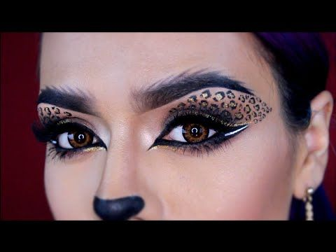 Sexy Leopard Halloween Makeup Tutorial   LoLo Love - YouTube