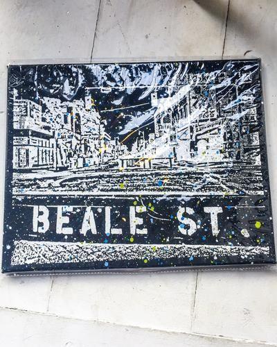 Beale Street in Memphis, Tennessee on Canvas, Art by Adam Exelbierd
