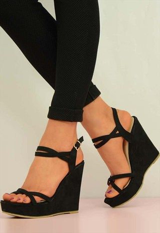 New+Womens+Ladies+Shoes+Sandals+High+Heels+Buckle+Size+UK