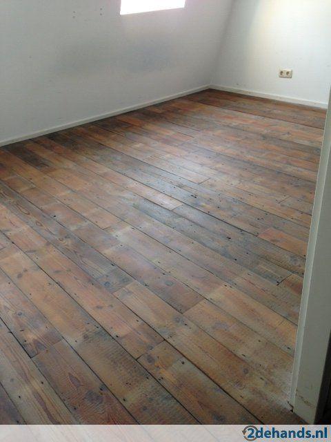 Houten vloer gebruikt oude planken grenen vloerdelen