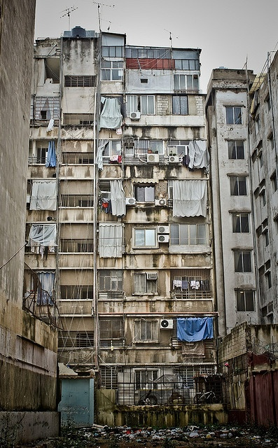 An apartment building in Beirut, Lebanon. Beirut is the capital and largest city of Lebanon.