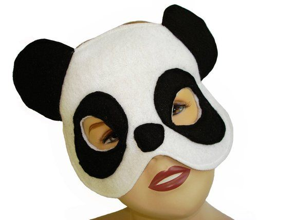 3b1f3448904 Children s Handmade PANDA Bear Felt Mask