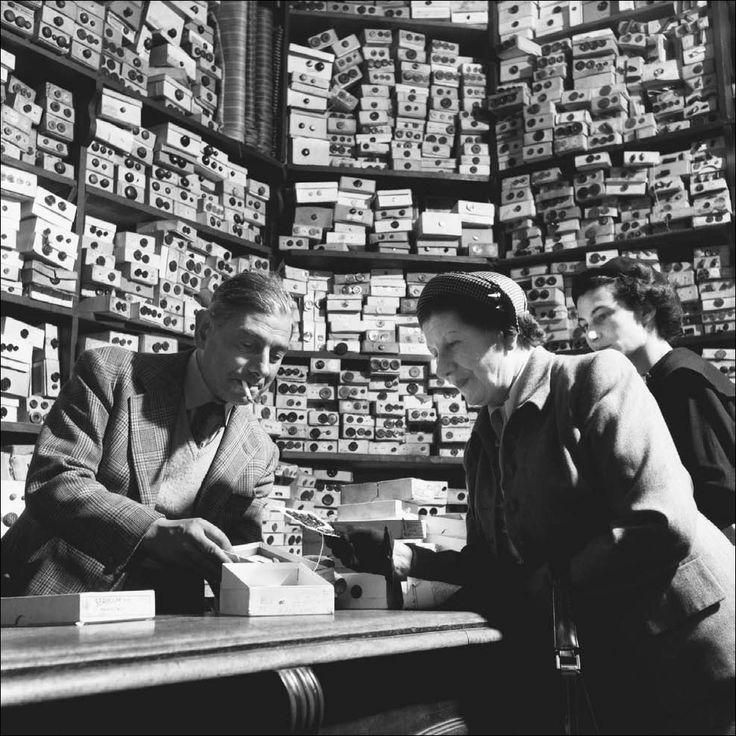 Button shop, 1953, London