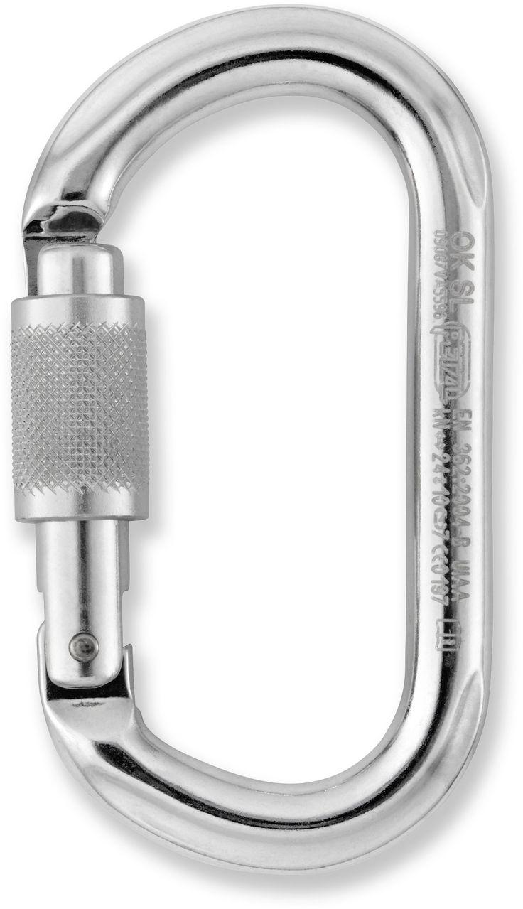 Petzl Ok Oval Screwgate Locking Carabiner