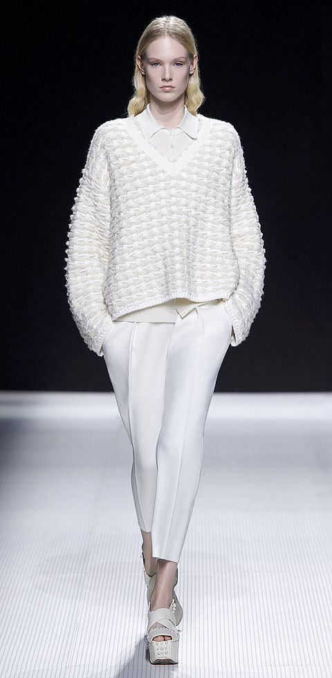 Sonia Rykiel Fall/Winter 2014 Collection #white #knit