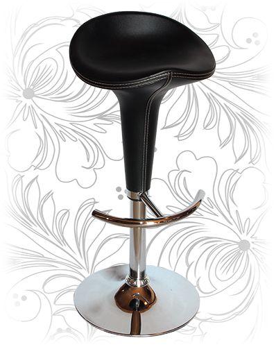 Барный стул 3006 HPVC чёрный. Купить барные стулья для кухни и кафе