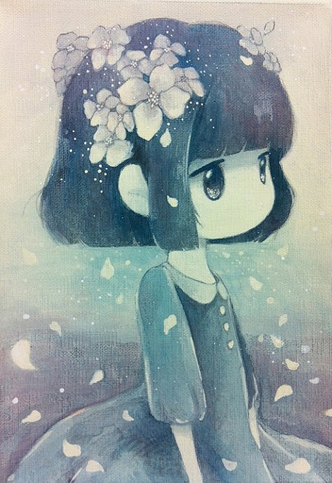Cute little flower girl