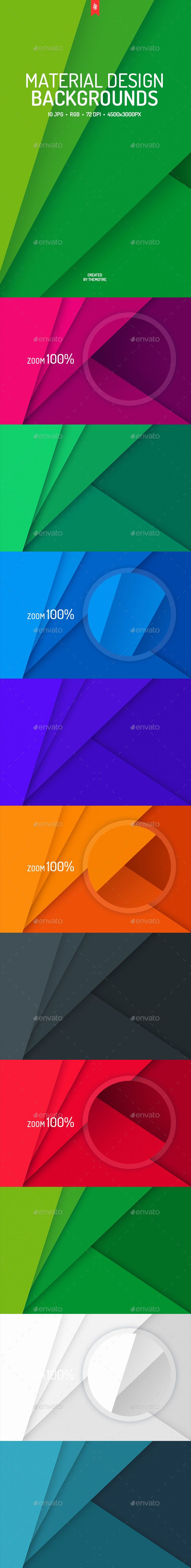 Flat Material Design Backgrounds by themefire This pack contains 10 jpg flat material design backgrounds for your projects. You can use these backgrounds in the different purpo