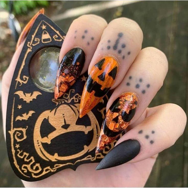 Halloween nails 🎃 @tashdollars Should we have a Halloween ...