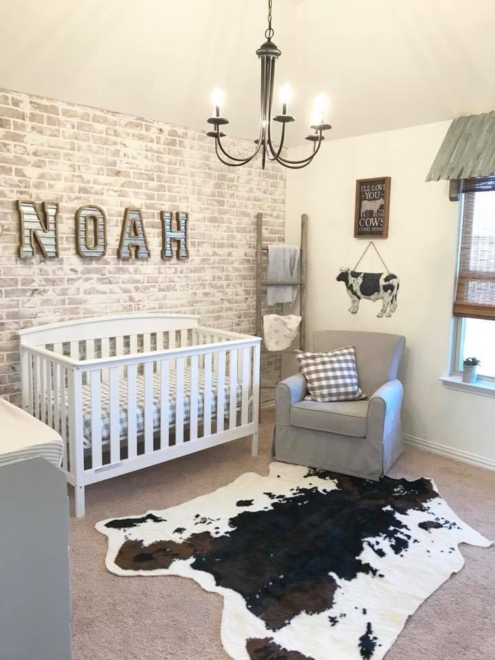 Farmhouse Nursery Baby Boy Room Decor