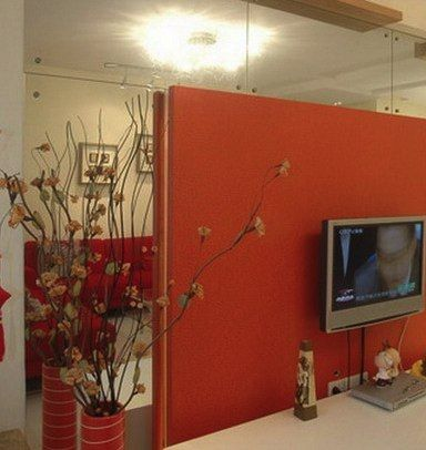 16 best images about colored walls on pinterest orange - Burnt orange feature wall living room ...