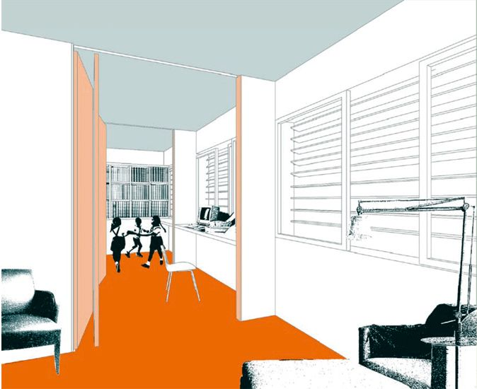Interior rendering - modern style