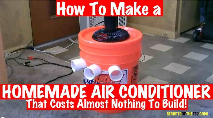 How To Make a HOMEMADE AIR CONDITIONER That Costs Almost Nothing To Build! [VIDEO] - Secrets of the Fed