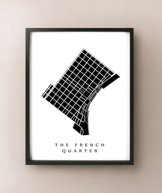 The French Quarter Map  New Orleans Neighborhood by CartoCreative