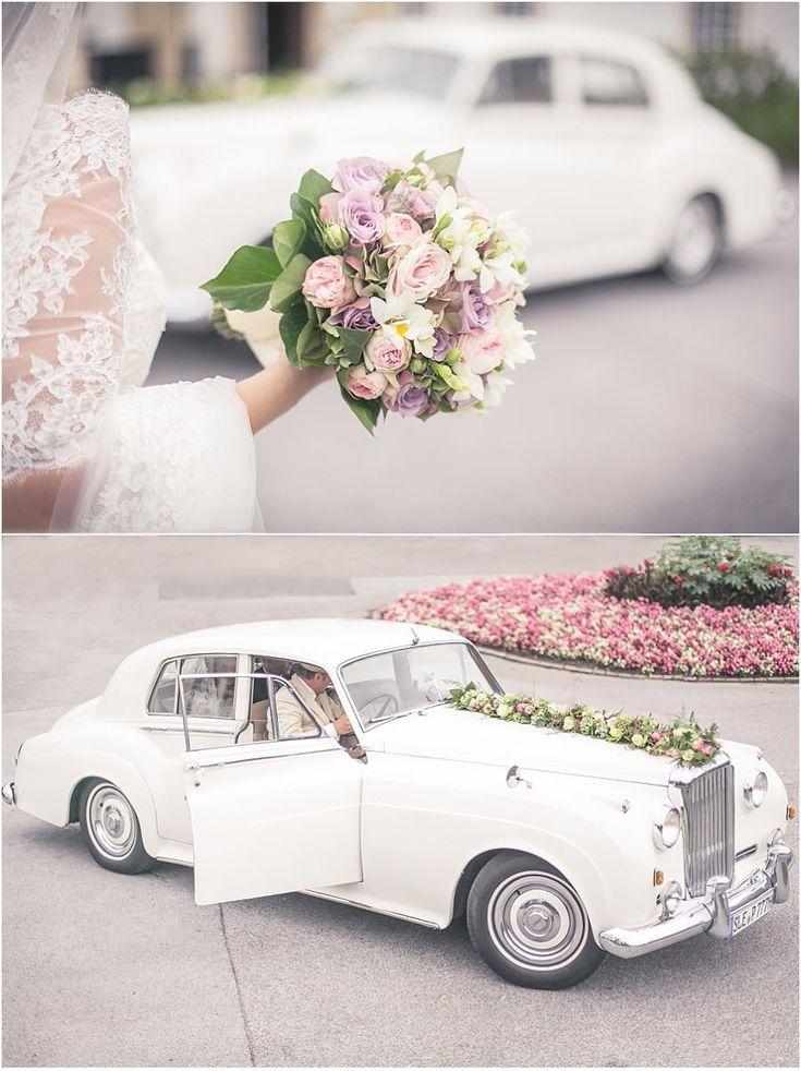 Hochzeit Oldtimer Weisses Auto Altes Auto Rolls Royce Hochzeitsauto Brauts Vintage Car Wedding Wedding Car Bridal Car