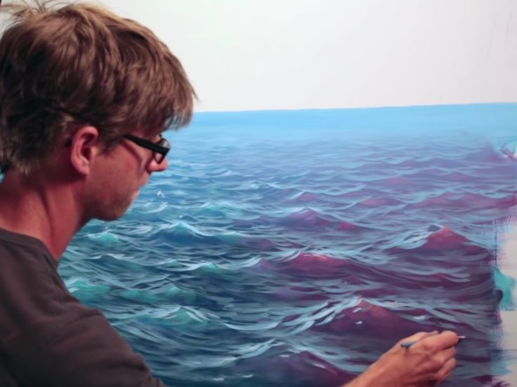 1000 images about art waterscapes on pinterest acrylics for Mural joe painting
