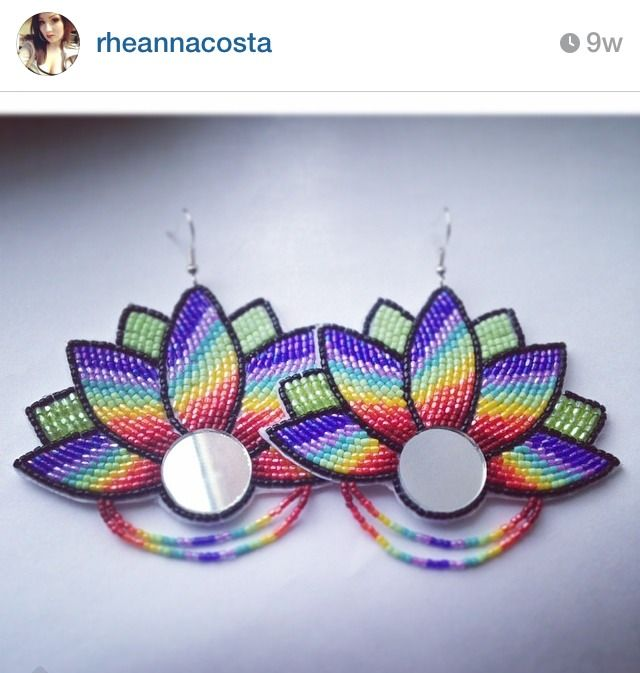 Beaded earrings by Shante Designs, follow her on IG at rheannacosta!
