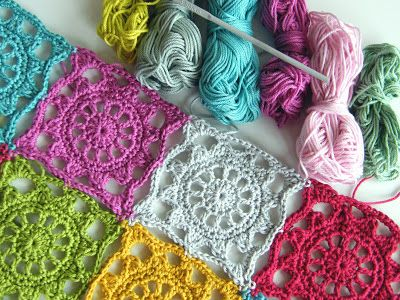 Annie's Place: Inspiration - Edward's Fancy square from Jan Eaton's 200 Crochet Blocks for Blankets, Throws & Afghans