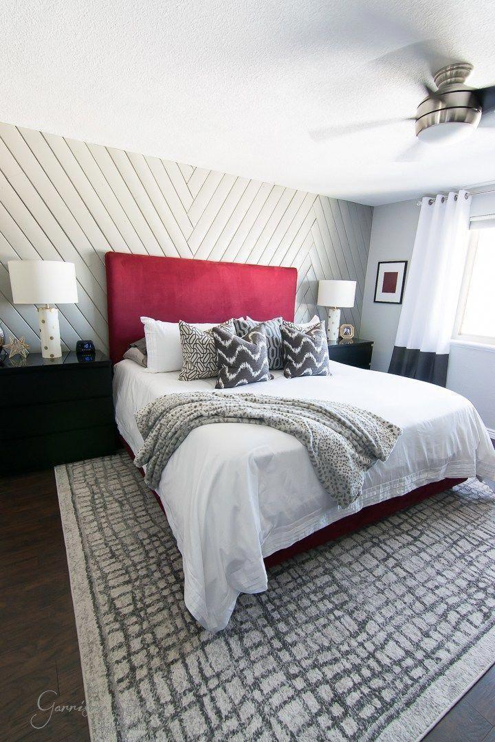Modern Master Bedroom Makeover Reveal Garrison Street Design Studio Diy Upholstered Bed Ideas Shiplap Wall Before And After
