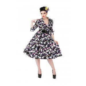 Lindy Bop Vivi delicate petals swing dress