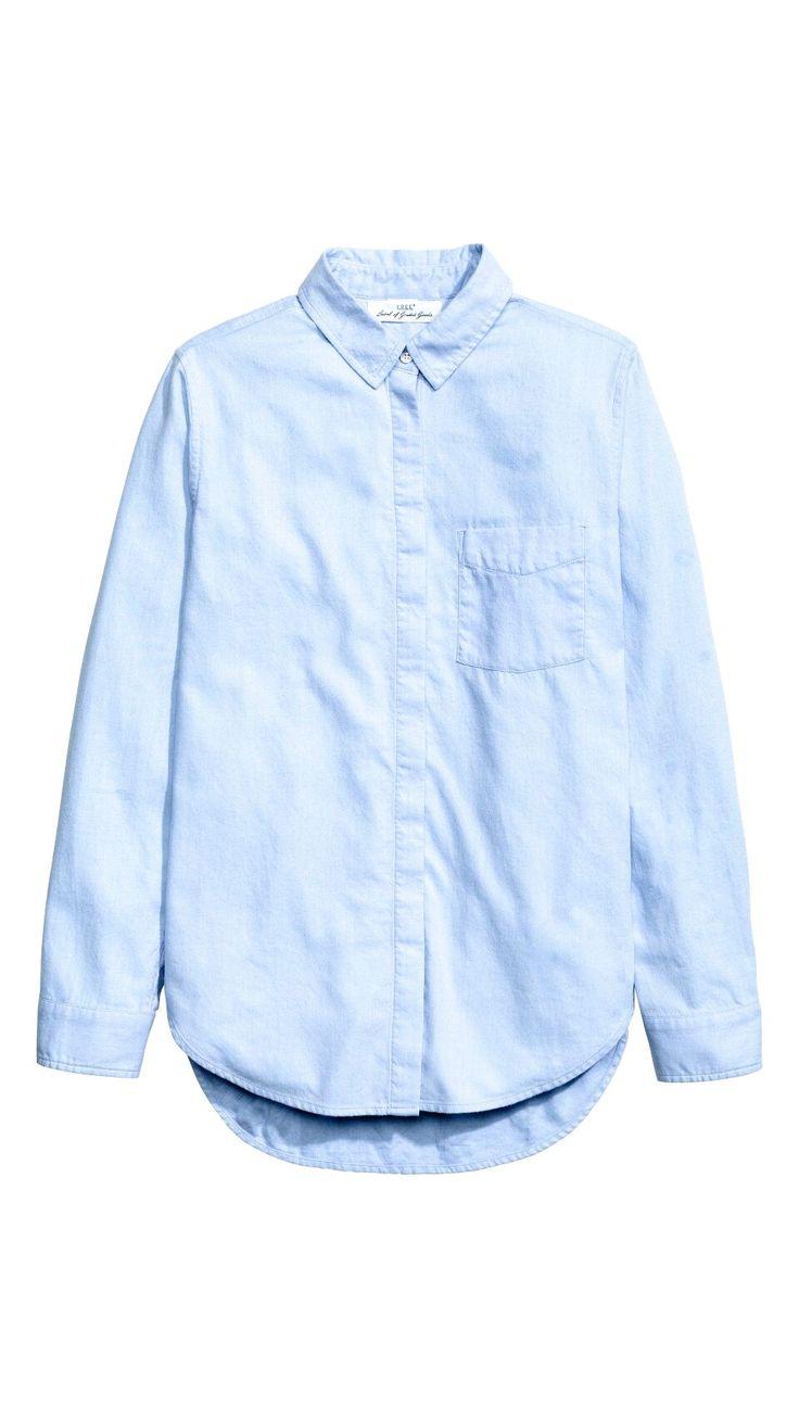 Light blue flannel shirt  R379