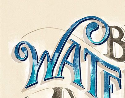 """Check out new work on my @Behance portfolio: """"Be water, my friend - Lettering"""" http://be.net/gallery/33330101/Be-water-my-friend-Lettering"""