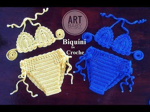 Calcinha de Biquíni em Croche Para Bebe e Infantil- Profª Fernanda Reis