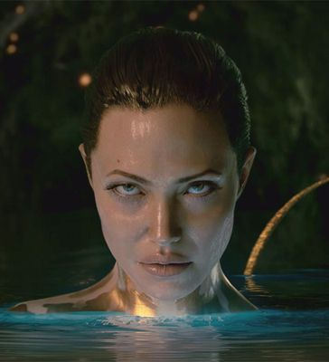 "Angelina Jolie as Grendel's Mother from ""Beowulf"" #film"